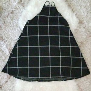 Tres Bien black windowpane dress size M